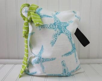 Starfish Wet Bag - Wet Bag Small - Bathing Suit Bag - Wet Bikini Bag - Beach Wet Bag - Waterproof Bag