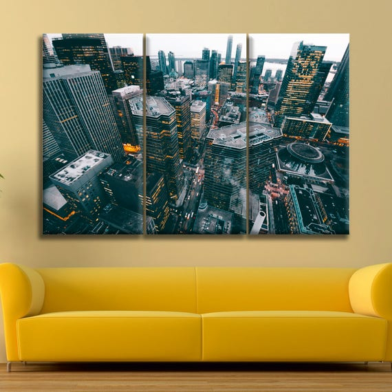 Unique Cityscape Canvas Wall Art Ensign - Wall Art Collections ...