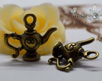 set of 6 QWP023 pendant bronze teapot, coffee pot, dishes