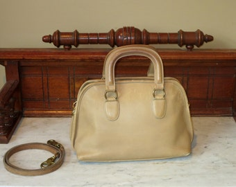 Dads Grads Sale Coach Baxter Bag Saddle (Stone?) Leather Satchel Duffel With Optional Crossbody Strap- Very Nice- VGC- Made In U.S.A.