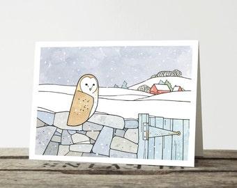 Barn Owl Farm Christmas Card