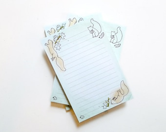 SALE ** Squirrel Notepad / Woodland To Do List Pad / Watercolor Illustration