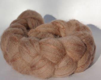 Shetland and silk spinning or felting - 95g