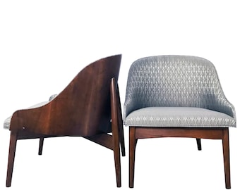 Pair of S. J. Weiner Bentwood Lounge Chairs for Kodawood