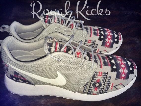 30% Off everything Tribal Aztec Gray Nike Roshe Run Custom Sneakers