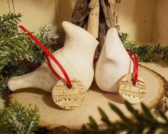 Clay Music Christmas Ornaments, Clay Gift Tags