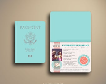 TAMIKA Passport and Boarding Pass Destination Wedding Invitation
