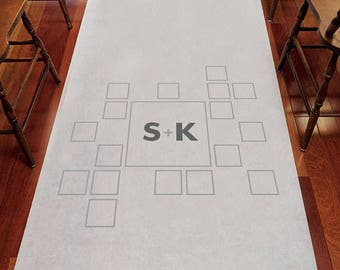 Times Square Personalized Aisle Runner Wedding Ceremony Decoration