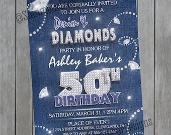 Diamond invitations Etsy