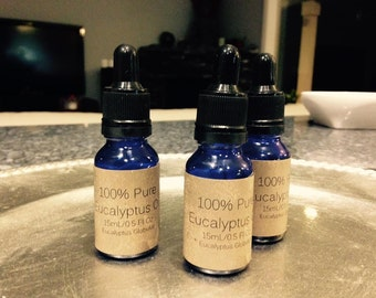 100% Pure Eucalyptus Essential Oil, 15 mL/0.5 oz with Dropper