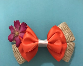 Moana Inspired Hair Bow