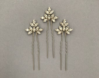 Single Bridal hair pin, bridesmaid hair pin, crystal hair pin, gold hair pin, silver hair pin, bridal hair pins