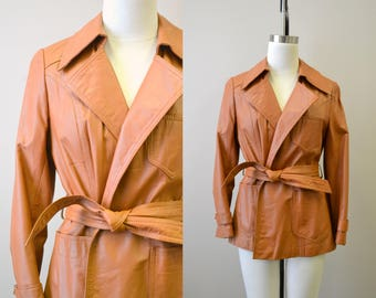 1970s Tan Leather Jacket
