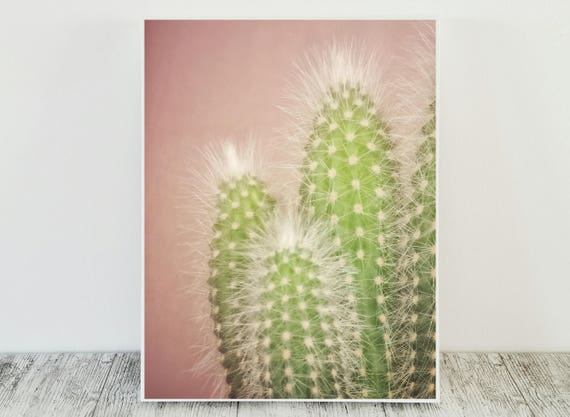 Pink Cactus Print for your Pastel Decor
