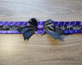 Spider Web collar, Ddlg Collar Cute collar Petplay Collar