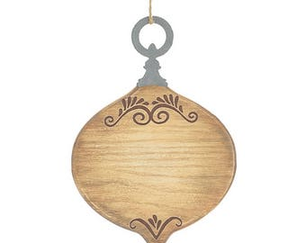Blank wood/tin christmas ornament - 9731335