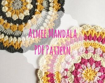 Crochet Mandala Pattern, PDF Pattern, Placemat Pattern, Doily Pattern