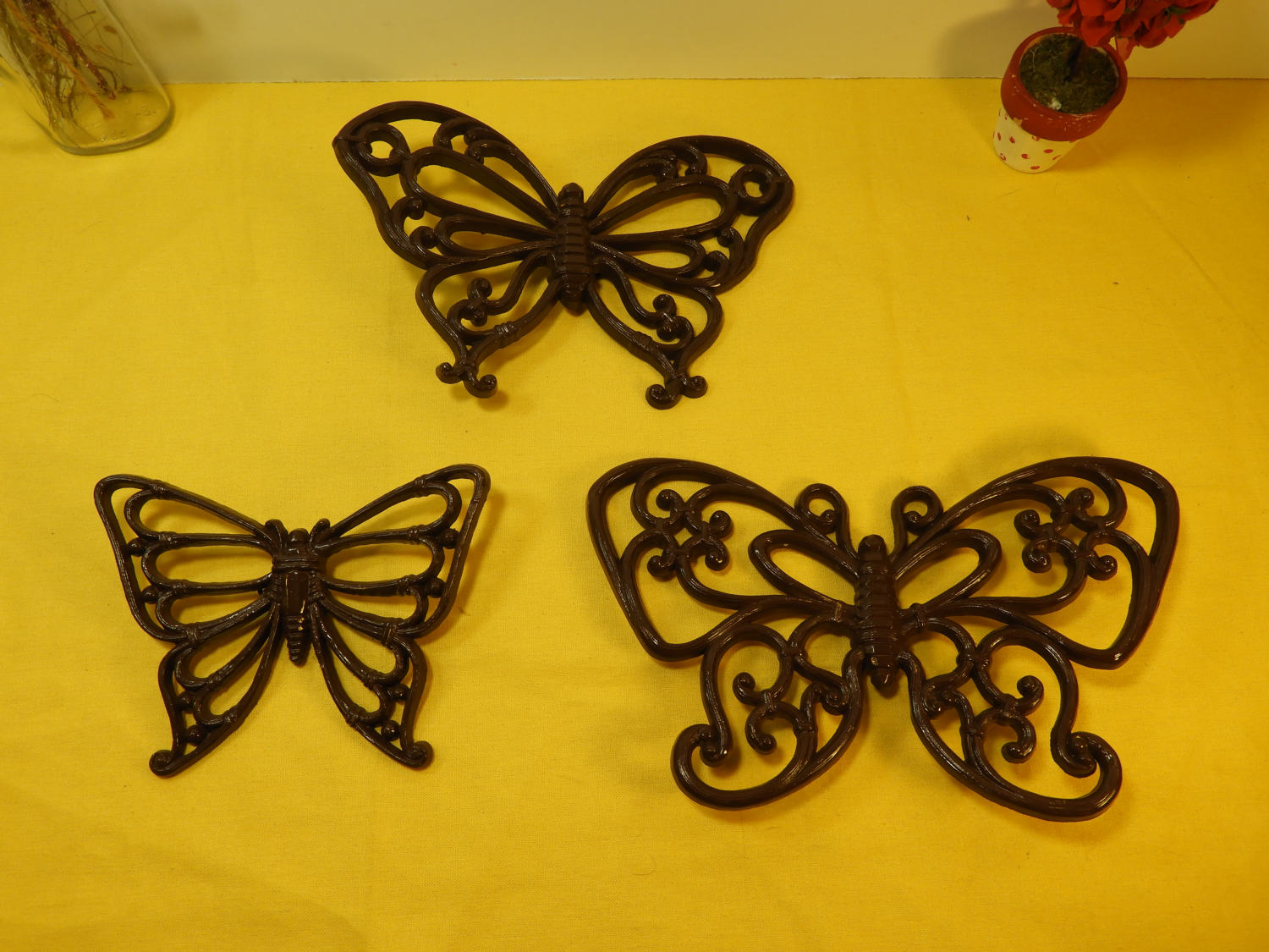 Vintage Homco Inc Butterflies (3), Decorative Brown Butterflies ...