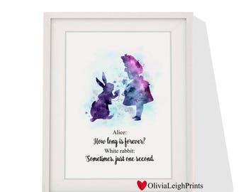 Disney Alice in wonderland art print Instant Download