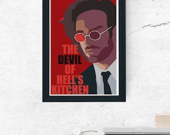 Daredevil Minimal Tv Show Poster Devil of Hell's Kitchen Marvel Matt Murdock The Defenders Netflix (A1, A2, A3)
