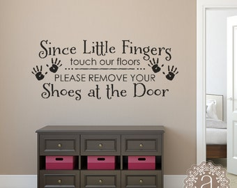 Please Remove Shoes Sign Wall Decal