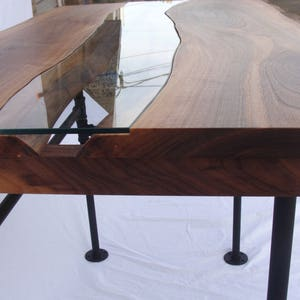 Wood and Glass River Table