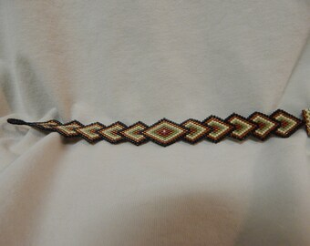 Delicate, Hand Beaded Bracelet, Seed Bead Bracelet, Delica Bracelet, Diamond Bracelet, Copper