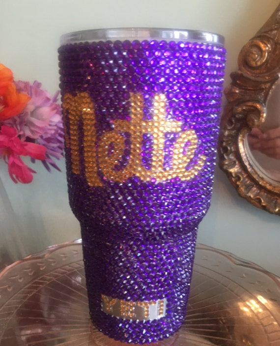 Yeti Rambler 30oz with Full Rhinestone and Name