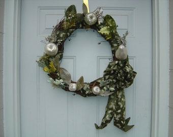 Silver Fruit Christmas Wreath