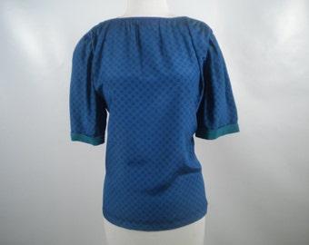 Vintage Liz Claiborne Green and Blue Check Shirt Size 10