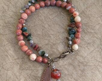 Earth Tones Stone Bracelet