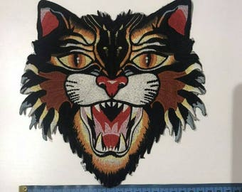 Patch tiger/patch sew on/embroidered tiger patch