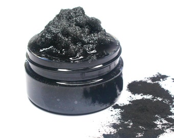 Charcoal Facial Scrub - Activated Charcoal Face/Body Scrub, Natural Face Scrub - Choose Scent & Size