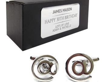 Computer IT at @ CUFFLINKS 30th, 40th, 50th, 60th, 70th birthday gift, presentation box personalised ENGRAVED plate - 052