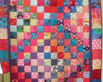 patchwork quilt, single bed quilt, patchwork throw, made to order