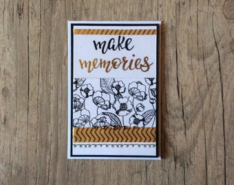 Make memories - greeting card - St Petersburg card - 3D card - handmade card - flowers -