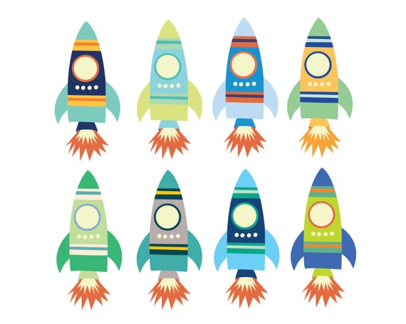 60 off sale digital clipart for boys space rocket clip art rh etsy com
