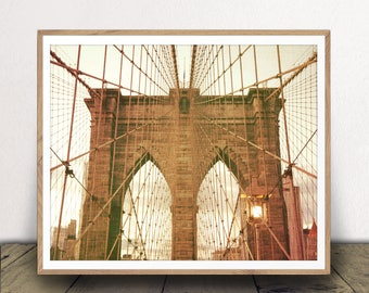 New York City Art Print, Brooklyn Bridge Photo, New York City Home Decor, Brooklyn Bridge, New York City Photography, Brooklyn Bridge Print