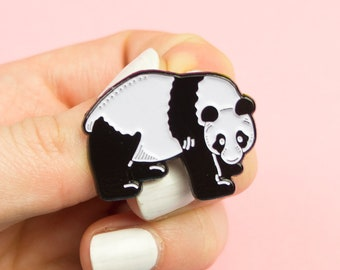 Panda Pin / Panda Bear Pin / Cute Animal Pin / Soft Enamel Pin / Cute Pin / Panda Gifts / Cute Bear Pin / Kawaii Enamel Pin / Pin Badge