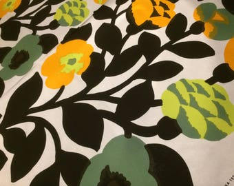 "Marimekko Green Green  cotton fabric, Finland,  40"" x 56"", Finland"