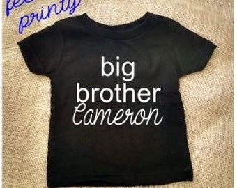 Personalized Big Brother Shirt Sibling Shirt with Name New Brother Pregnancy Announcement Baby Gift
