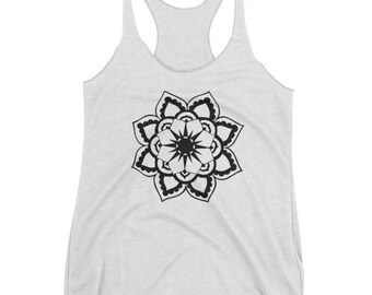 Sun Mandala Women's tank top, Mandala Tank, Mandala Shirt, Yoga Tank, Yoga shirt, workout shirt, gifts for women, gifts for her