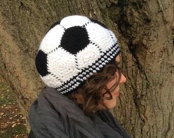 Instant Download: Soccer Ball Hat Crochet Pattern