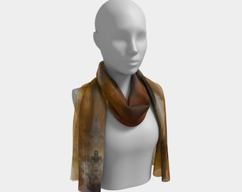 Tigers Eye, fashion royalty, gold, brown,scarf, Mothers Day, Girlfriend, Anniversary gift, handmade,silk,gift, gift for women, birthday gift