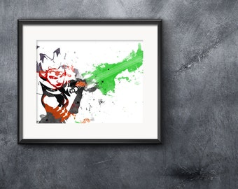 Star Wars - Ahsoka Tano (The Clone Wars) - Watercolor and Pencil - Print