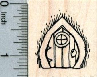 Fairy Door Rubber Stamp, Irish Folklore D31810 Wood Mounted