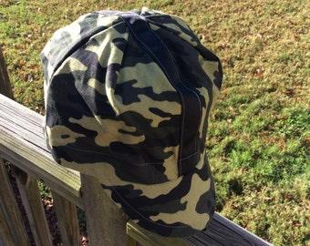 Camo/B'KLYN cycling cap,crown,lid,dome piece,brooklyn,frumzfarm,frumz, handmade bklyn