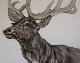 Stag Ascending Animal Art Wildlife Art Print