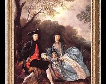 1700's Family Miniature Dollhouse Art Picture 6701