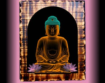 Buddha Plaque for self healing and meditation